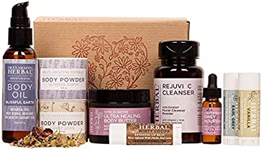 Love Your Skin, Luxury Natural Skincare Gift Set, Transformative Aromatherapy, Herbal Infused Skin Care, Ora's Amazing Herbal, Paraben-free Luxury Skin Care Sets, Apothecary Skincare for Women