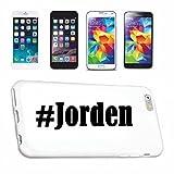 Reifen-Markt Hard Cover - Funda para teléfono móvil Compatible con Samsung S6 Edge Galaxy Hashtag #Jorden en Red Social Diseño