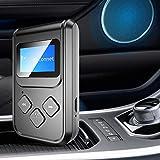 minifinker Adaptador de Audio Bluetooth Pantalla Digital Pantalla Digital Adaptador Bluetooth, para teléfono móvil, Altavoz, para Radio de Coche