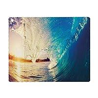 iPad Air 4 ケース 2020 iPad 10.9インチ 海、波の日の出サーファーの視点シュールな沿岸の魅力スポーツライフスタイルシーン、青い淡い藤色 Pad 10.9インチ 2020年専用