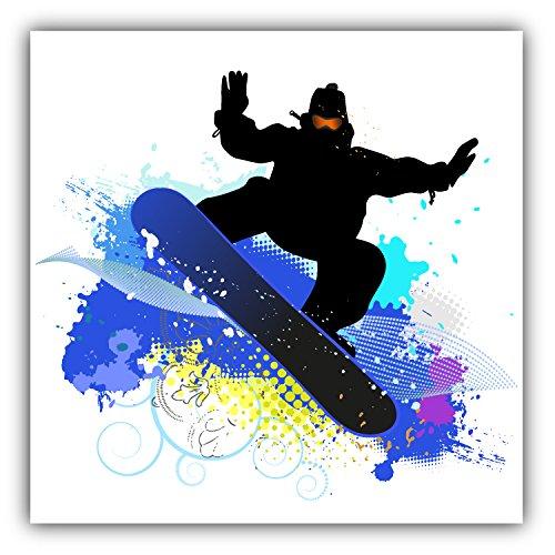 Snowboard Grunge Label Auto-Dekor-Vinylaufkleber 12 X 12 cm
