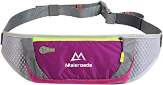 Mapoo Slim Running Belt/Fanny Pack/Fitness Belt/Workout Pouch/Waist Pack for iPhone X 8 7 Galaxy S9 S8 S6 6'' Smartphone, Men Women Water Resistant Bum Bag for Hiking Cycling Climbing (Purple)