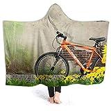 Sudadera con capucha para niñas con capucha, reversible, de franela con mangas, 152 x 127 cm