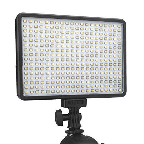 Newmowa LED320I Luz de Vídeo Cámara Bicolor Luz Panel 3200k-5500k CRI 95 + Panel de LED Iluminación Profesional para Digital SLR Cámaras