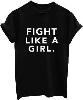 a0145c227 BLACKMYTH Mujer Casual Camisetas para Estampar Redondo Graphic Tees Manga  Corta Señoras T-Shirt