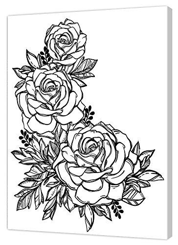 Pintcolor 7814.0 châssis avec Toile imprimée à colorier, Bois de Sapin, Blanc/Noir, 40 x 50 x 3,5 cm
