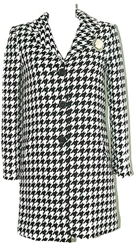 Denny Rose SCONTO 40% CAPPOTTO PIED DE POULE + SPILLA tg. 44 COAT 51DR31010 Made in Italy