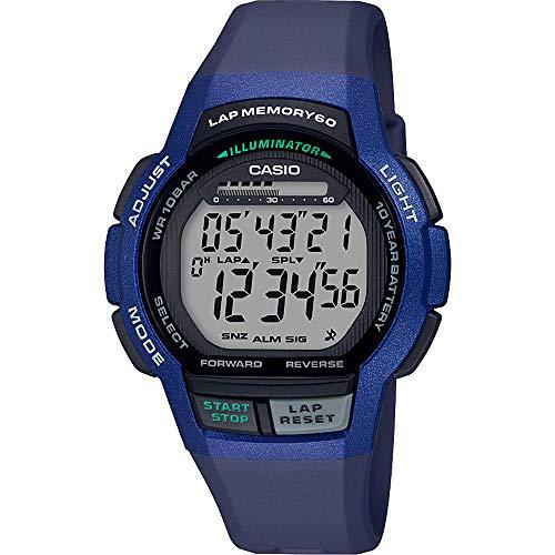 CASIO Herren Digital Quarz Uhr mit Harz Armband WS-1000H-2AVEF