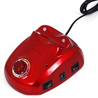 30000 rpmネイルマニキュア機電動ネイルドリルビットファイルカッターサンディングバンドアクセサリーセットペディキュア機器機器、赤