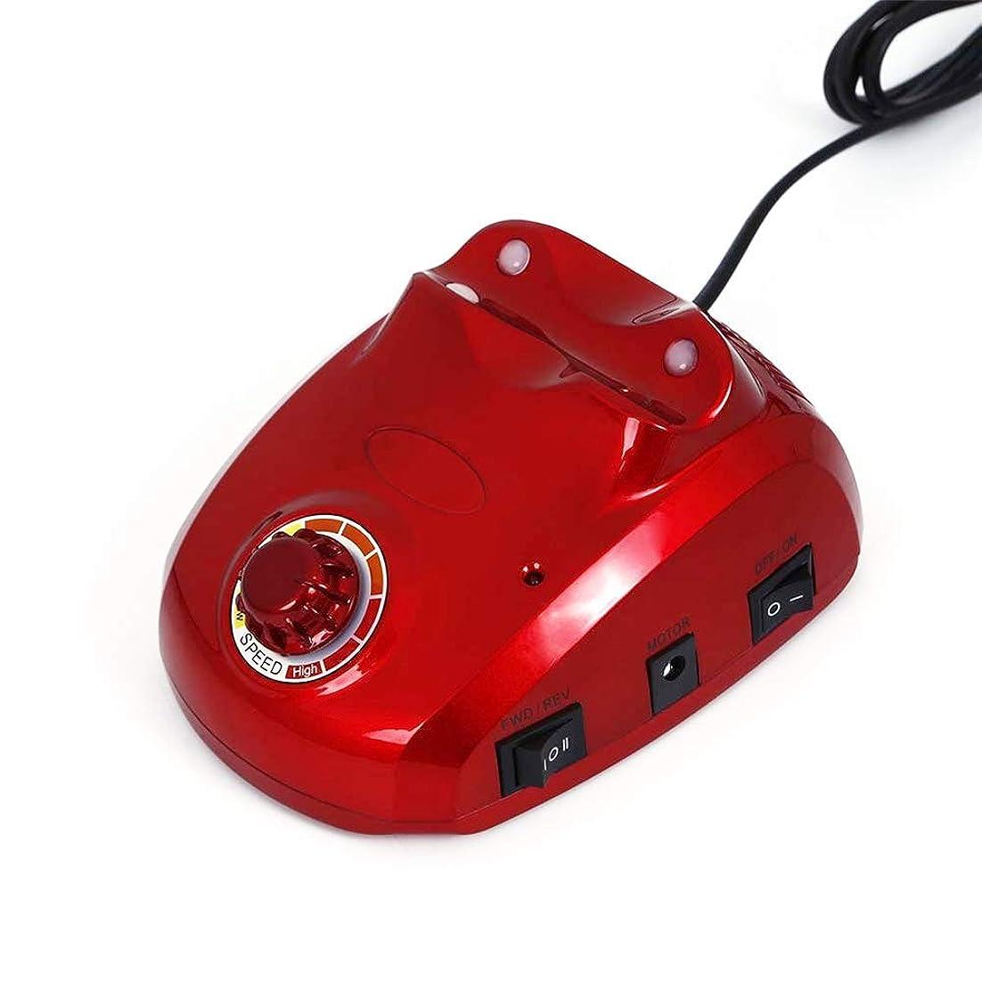 何よりもミキサー引退する30000 rpmネイルマニキュア機電動ネイルドリルビットファイルカッターサンディングバンドアクセサリーセットペディキュア機器機器、赤