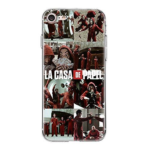 Giorno TV La Casa De Papel TPU Phone Case Cover For Funda iPhone Case Soft Shell 11 For Funda iPhone 7 Plus (Funda iPhone 8 Plus)