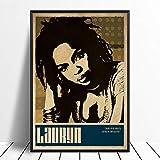 wojinbao Kein Rahmen Lauryn Hill Musik Sänger Poster Rap