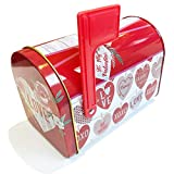 Valentines Day Tins with Lids for Gift Giving Empty Red Kids Mini...