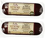 Hickory Farms Beef Summer Sausage 10 Ounce (Pack of 2)