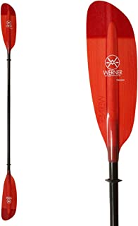 Werner Camano Fiberglass 2-Piece Paddle - Straight Shaft Red, Small,240cm