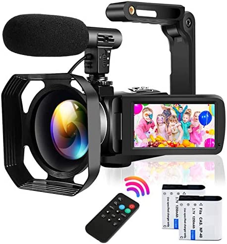 Video Camera Camcorder with Microphone Ultra HD 2 7K 30MP YouTube Vlogging Camera IR Night Vision product image