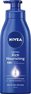 NIVEA Rich Nourishing Moisturising Body Lotion & Moisturiser with Intensive Moisture Serum & Almond Oil for Dry to Very Dr...