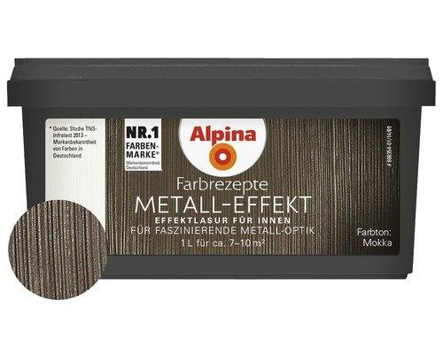 Alpina Farbrezepte Effektlasur Metall-Effekt Mocca Glänzend 1 Liter