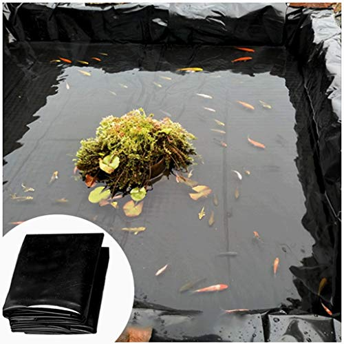 SSYBDUAN 1,5 × 3 m (5,9 × 9,2 m HDPE Fish Pond Liner Garden Pond Landscaping Pool reforzado grueso resistente impermeable membrana Liner paño (color: 20S, tamaño: 5 x 8 m 16 x 8 pies)