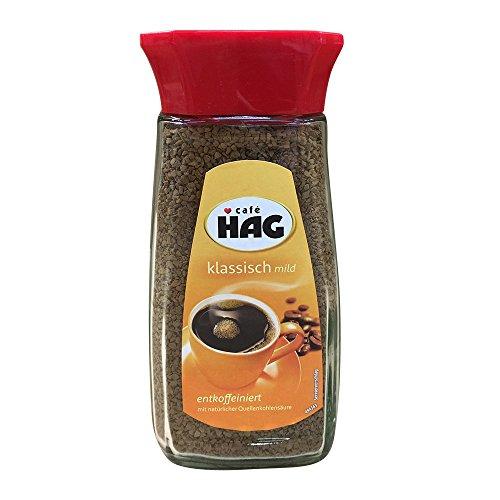 Cafè Hag Klassisch Mild,Entkoffeiniert, Instant-Kaffee, 100g
