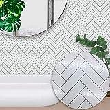 Mosaik Fliesen Aufkleber selbstklebende quadratische Wandaufkleber wasserdichte Wandkunst für Wohnzimmer Küche Badezimmer (6 * 6 inch * 10 PC,G)