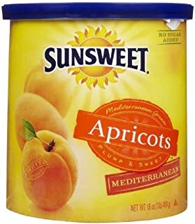 Sunsweet Apricots Mediterranean 16 Ounce/Canister, (Pack of 2)