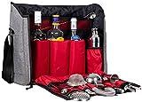 Jillmo Cocktail Shaker Set, 14-Piece Bartender Kit with Bartender Travel Bag