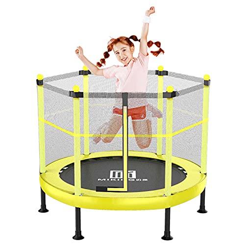 Bueuwe 4FT (121Cm) Trampolín Trampolines Cama Elástica Interior Exterior para Niños Mayores De 3 Años Trampolín Infantil con Red De Seguridad Y Arnés Mejores Regalos De Cumpleaños