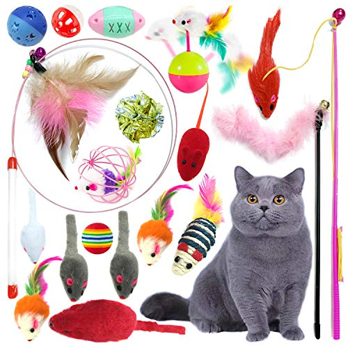 PietyPet Cat Toys, Pet toys Variety Pack for Cat Kitten Kitty 18 pieces
