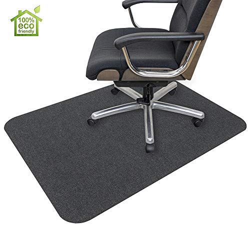 Office Chair Mat, Hard-Floor Chair Mat for Home, 0.16' Thick Multi-Purpose Low Pile Desk Chair Mat for Hardwood Floor (35x55 in. / Dark Gray)