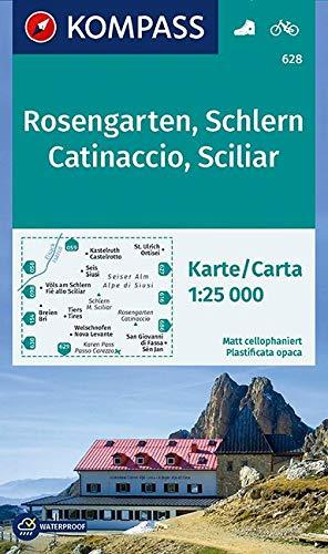 Rosengarten / Catinaccio / Schlern / Sciliar 1 : 25 000 (KOMPASS-Wanderkarten, Band 628)