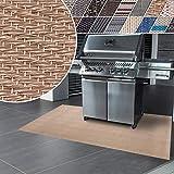 casa pura Tappeti Vinile Protettivi - Tappeto per Barbecue con Design Antimacchia, Ignifugo - Tappeto Salvapavimento Multifuzione, Interno, Esterno - 17 tonalità e 3 Misure - 90x120 cm - Verona