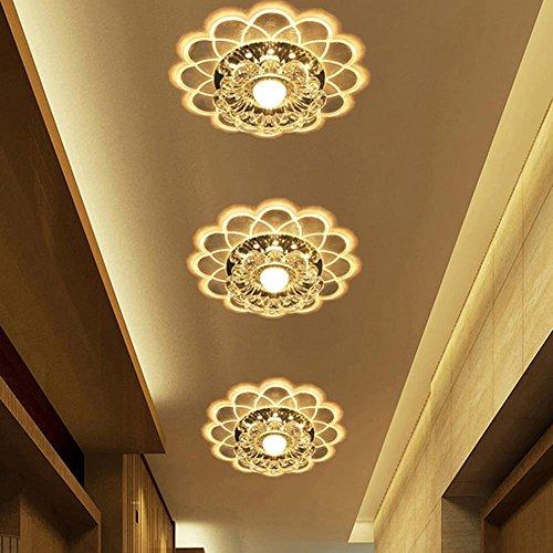 3 W LED Crystal Plafonnier Créatif en acrylique plafonnier lampe de couloir Spot mural Lampe de chevet Lumière ffekt LED encastrable Downlight intégrée Lampe Applique Murale Fer Ø20 cm