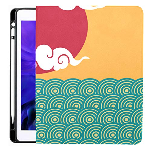 Ipad Pro 12.9 Case 2020 & 2018 With Pencil Holder Chinese Cloud Pattern Design Element Smart Cover Ipad Case, Supports 2nd Gen Pencil Charging,case For 2020 Ipad Pro 12.9 Cover With Auto Sleep/wake