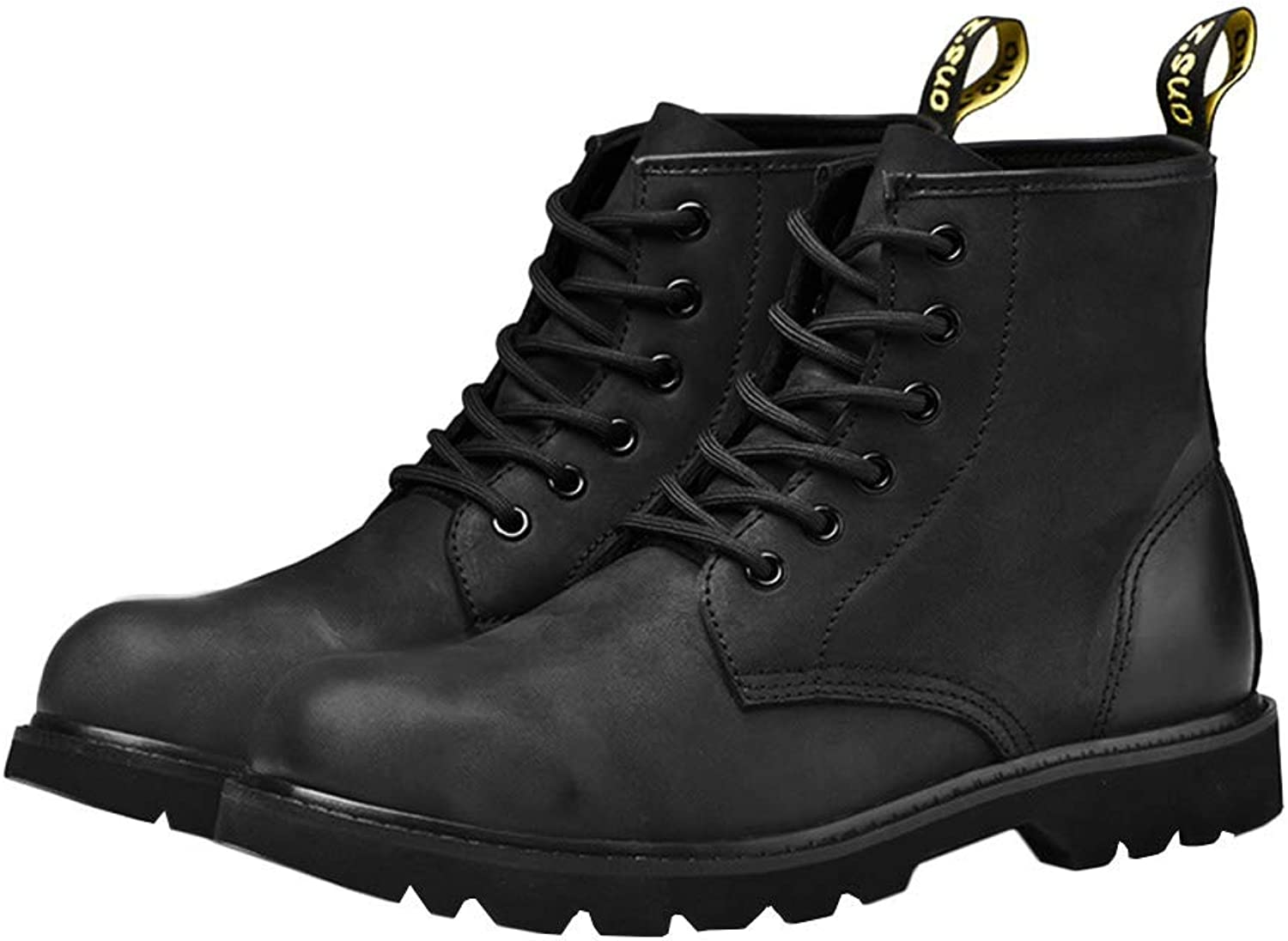 Insun Men's Genuine Leather Ankle Combat Boots
