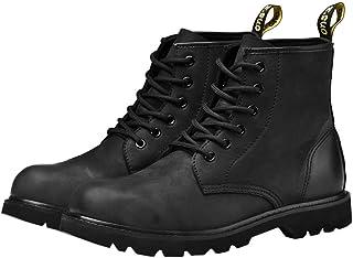 Ommda Męskie buty bojowe z prawdziwej skóry