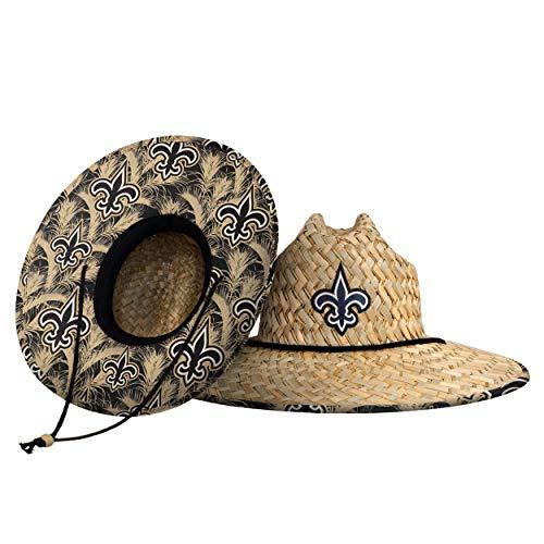 New Orleans Saints NFL Floral Straw Hat