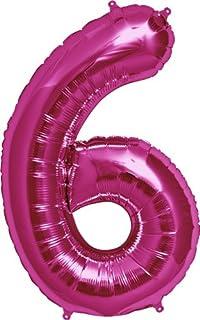"""Northstar NUMBER 6 - MAGENTA, 34"""", Pink"""