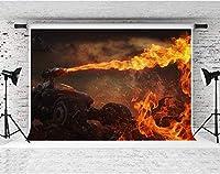 写真撮影のためのHDチャリオット火の背景10x7ft綿布子供誕生日パーティーの装飾用品YouTubeフォトビデオ小道具DSFS221