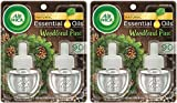 Air Wick Scented Oil Refills - Holiday Collection 2017 - Spread The Joy - Woodland Pine Fragrance - 2 Count Oil Refills Per Package - Pack of 2 Packages