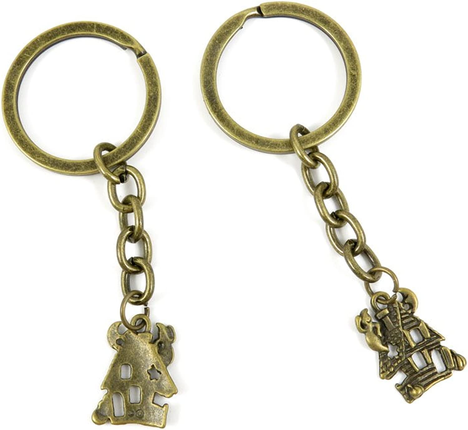 220 Pieces Fashion Jewelry Keyring Keychain Door Car Key Tag Ring Chain Supplier Supply Wholesale Bulk Lots K6CH2 Haunted Elf House