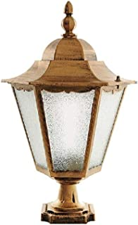 ZHCWT Classic Waterproof Outdoor Pillar Lamp European Retro Landscape Garden Column Light Decor Aluminium Metal Door Patio...