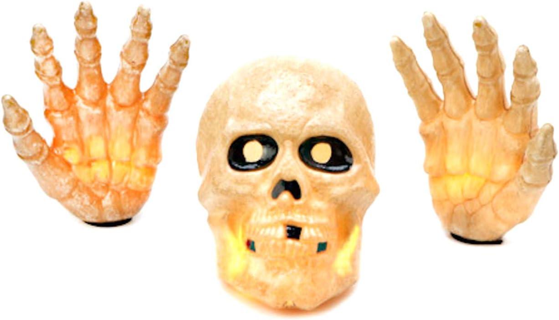 Halloween Store Decoration Lighted Max 45% OFF Skull and 3 Outdoor Indoor Hands