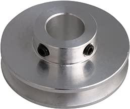BQLZR - Polea de perforación fija para eje de motor de aleación de aluminio plateado, 41 x 16 x 12 mm, correa redonda de poliuretano de 3 - 5 mm