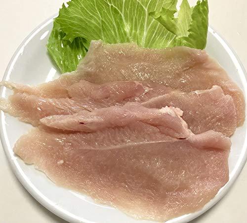 鶏しゃぶしゃぶ用 国産若鶏 むね肉スライス3ミリ 2K 生フレッシュチルド