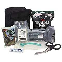 A KIT PACKED WITH ESSENTIALS - A small and lightweight kit that's packed with high quality equipment to treat a variety of emergencies and injuries. TRAUMA PACK WITH QUICKCLOT - Stop bleeding on site quickly and efficiently with this selection of ess...