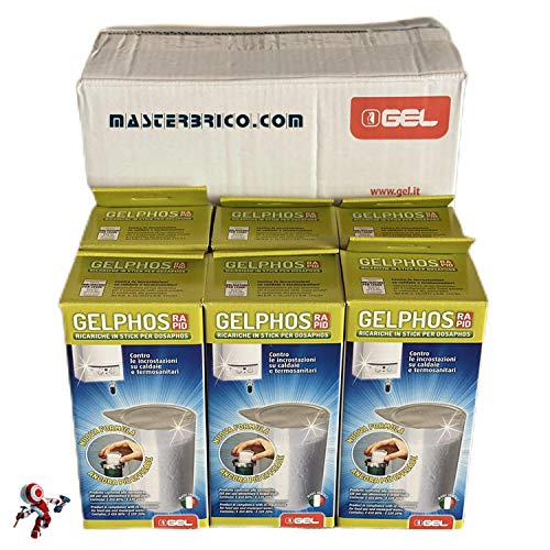Gelphos rapid 8 recambios Pack ahorro de 6 unidades Antical anticorrosivo listo para usar para dosificador polifosfatos para caldera