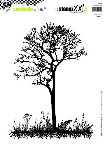Carabelle Studio Cling Stempel XXL-Tree, Rubber, White transparent, 19 x 27.5 x 0.5 cm