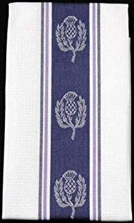 Tea Towel in a Scottish Thistle Design by Justina Claire