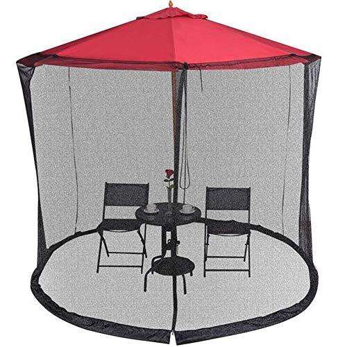 XBR Nytt 2,3 m utomhus trädgårdsparaply bord skärm parasoll myggnät skydd insektsnätskydd, utomhus trädgård paviljong tält myggnät (endast sidonät)